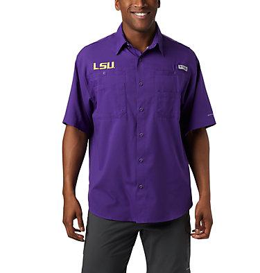 Men's Collegiate PFG Tamiami™ Short Sleeve Shirt - LSU CLG Tamiami™ Short Sleeve Shirt | 517 | S, LSU - Vivid Purple, front