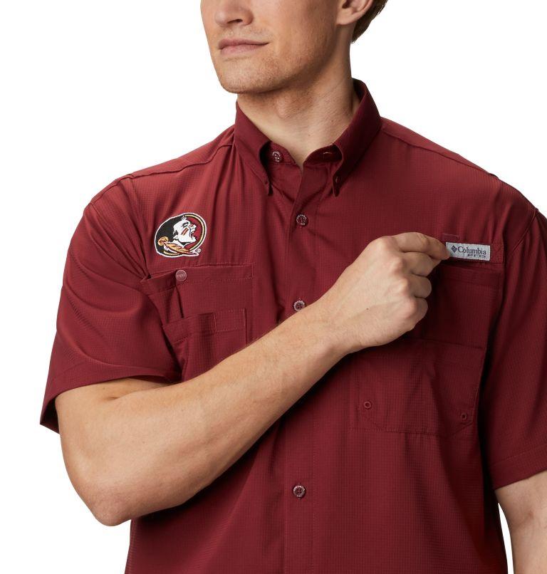 CLG Tamiami™ Short Sleeve Shirt | 621 | XL Men's Collegiate PFG Tamiami™ Short Sleeve Shirt - Florida State, FSU - Cabernet, a3