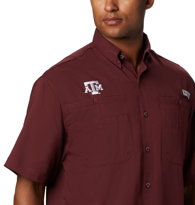 Men's Collegiate PFG Tamiami™ Short Sleeve Shirt - Texas A & M Men's Collegiate PFG Tamiami™ Short Sleeve Shirt - Texas A & M, a3