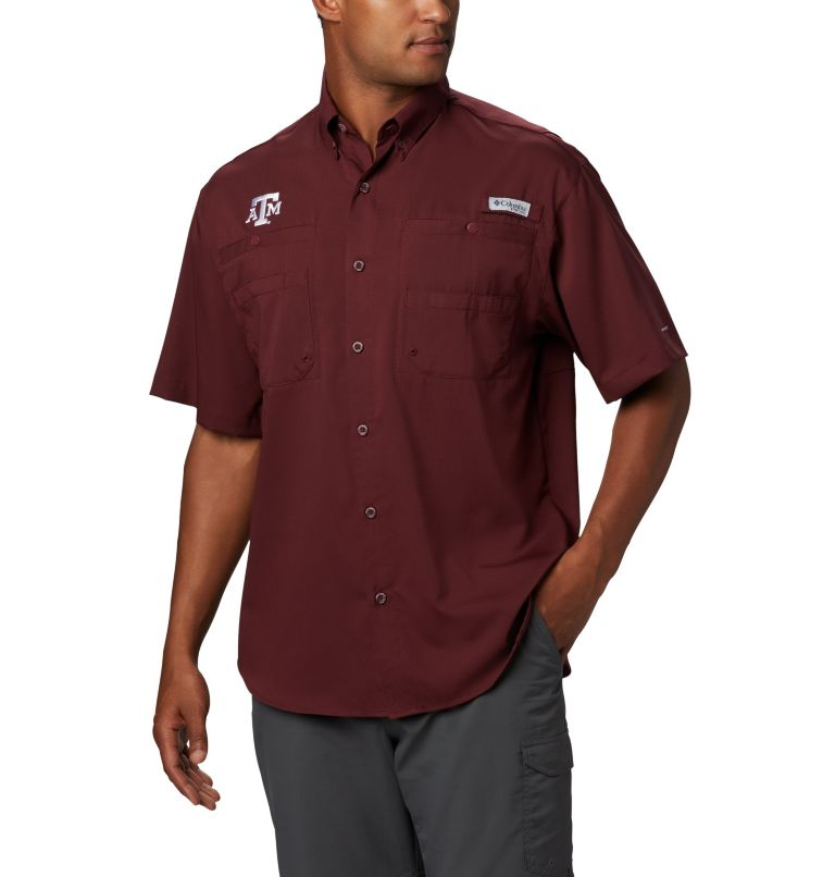 Men's Collegiate PFG Tamiami™ Short Sleeve Shirt - Texas A & M Men's Collegiate PFG Tamiami™ Short Sleeve Shirt - Texas A & M, front