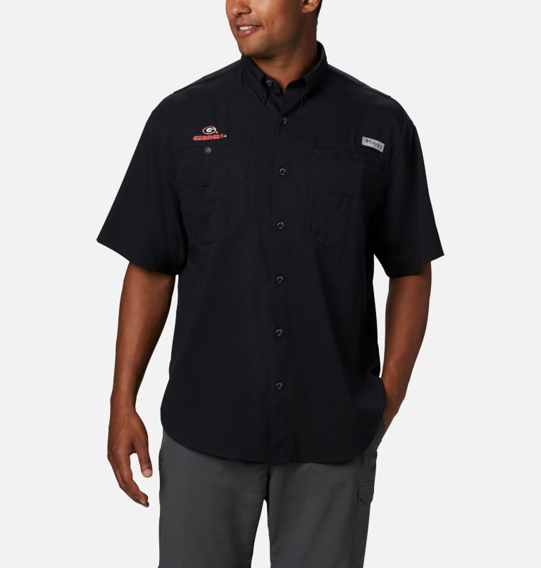 Men's Collegiate PFG Tamiami™ Short Sleeve Shirt - Georgia Men's Collegiate PFG Tamiami™ Short Sleeve Shirt - Georgia, front