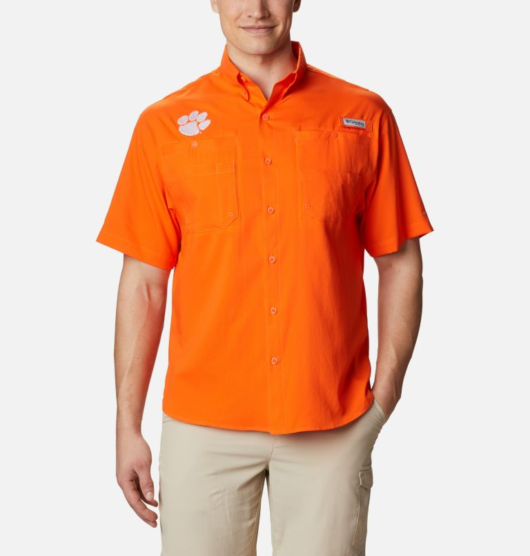 Men's Collegiate PFG Tamiami™ Short Sleeve Shirt - Clemson Men's Collegiate PFG Tamiami™ Short Sleeve Shirt - Clemson, front