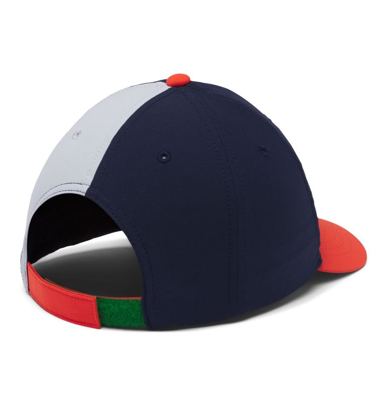 Youth Adjustable Ball Cap | 464 | O/S Kids' Adjustable Ball Cap, Coll Navy, Wildfire, Cirrus Grey, back