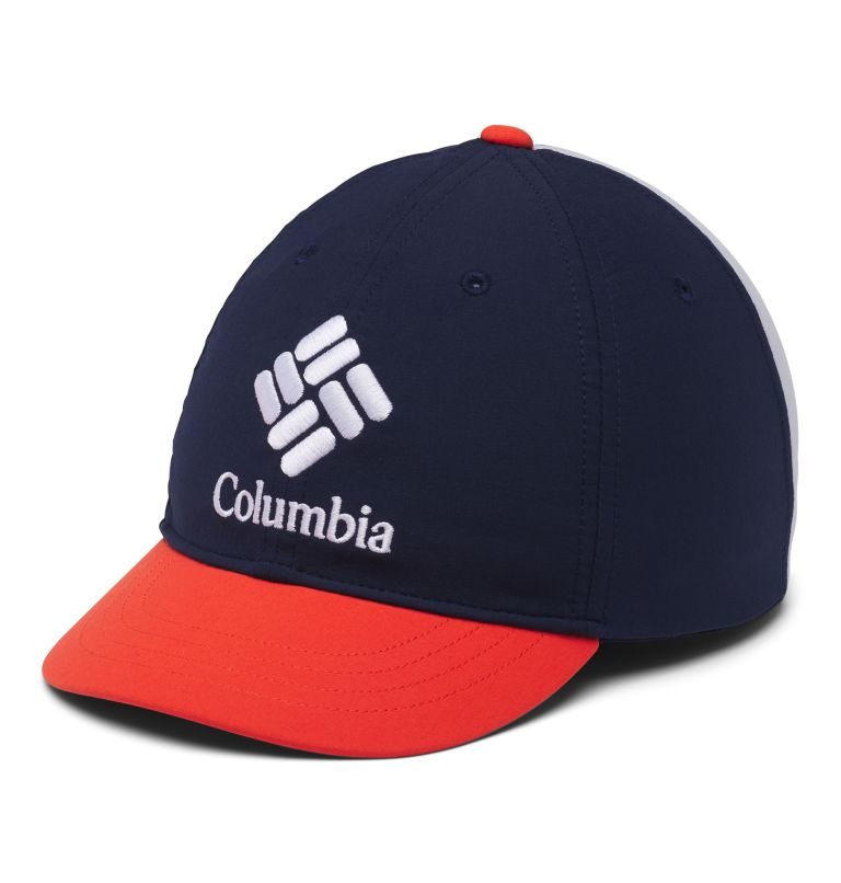 Youth Adjustable Ball Cap | 464 | O/S Kids' Adjustable Ball Cap, Coll Navy, Wildfire, Cirrus Grey, front