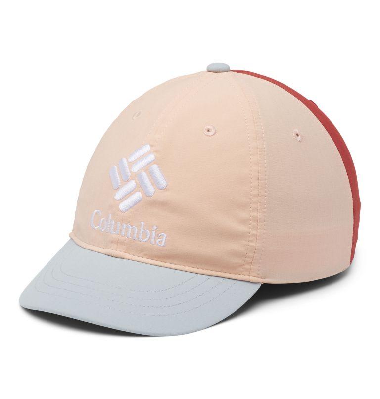 Youth Adjustable Ball Cap | 870 | O/S Kids' Adjustable Ball Cap, Peach Cloud, Cirrus Grey, Dusty Crimson, front