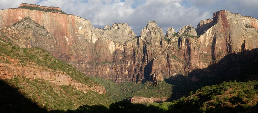 Towers of the Virgin at Zion National Park.