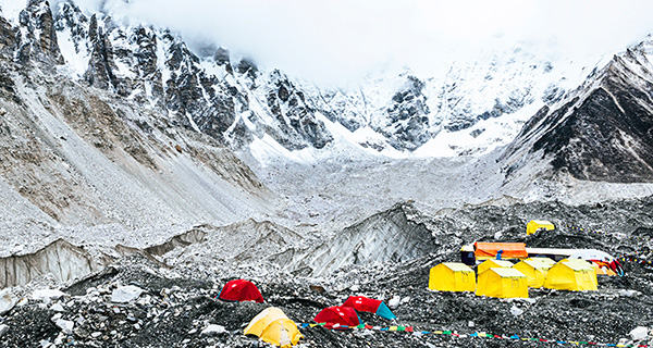 A view of Everest Base Camp