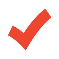 Icon of a red checkmark