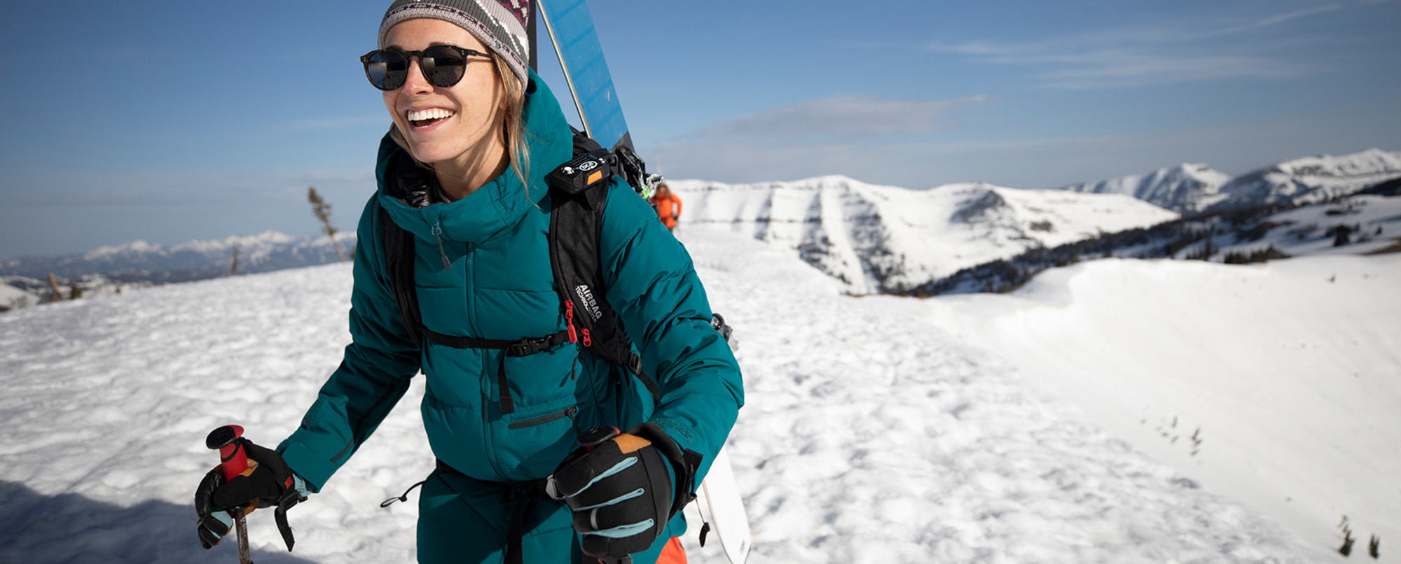 Close up of skier wearing the Women's Direct North™ Gore-Tex
