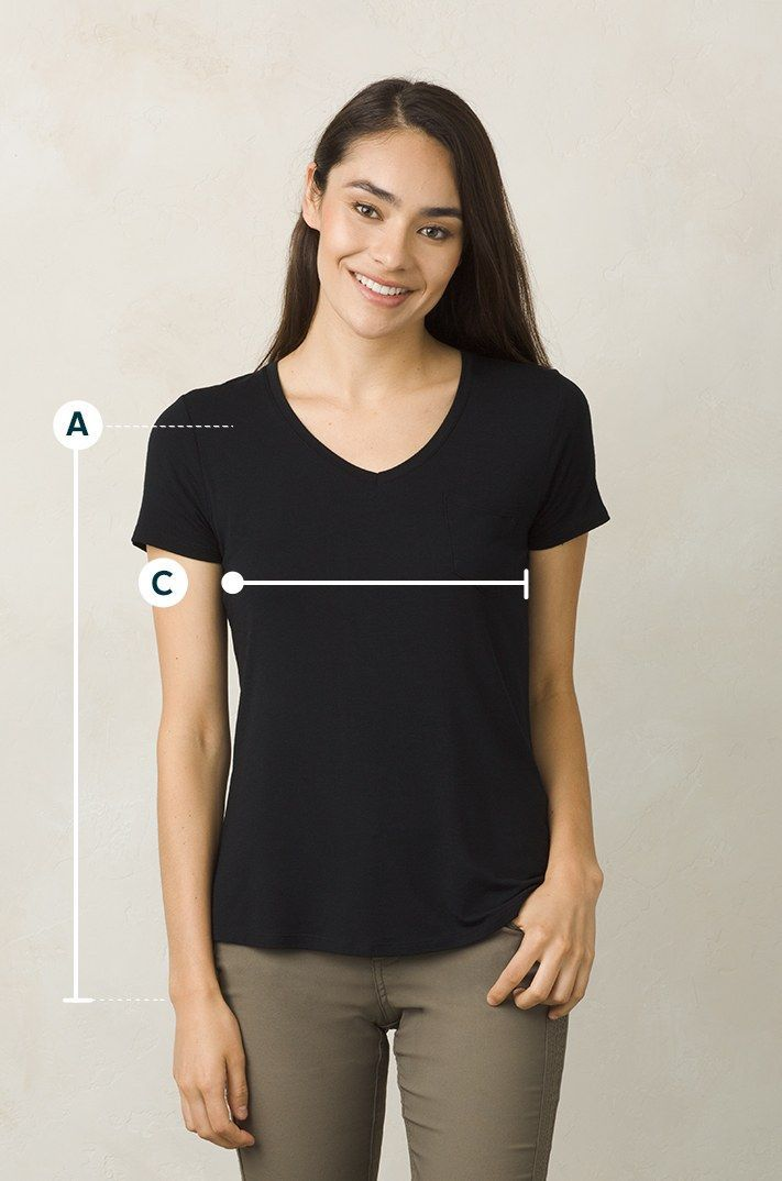 Women's size chart measurement guide